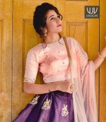 Phenomenal Purple Color Silk Designer Lehenga Choli
