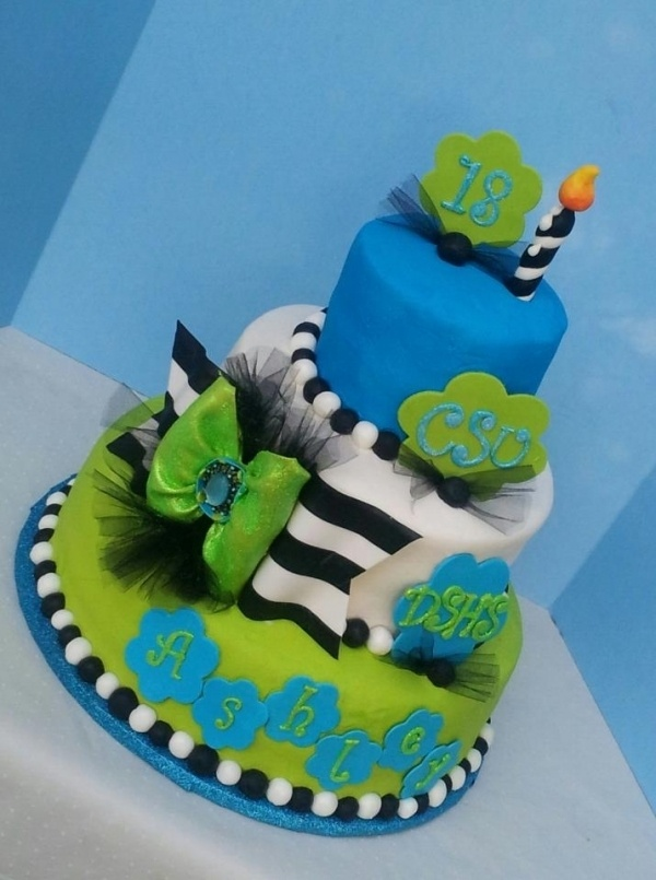 Blue Birthday Cake For Men