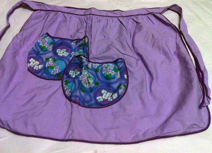 Purple kitchen tea apron