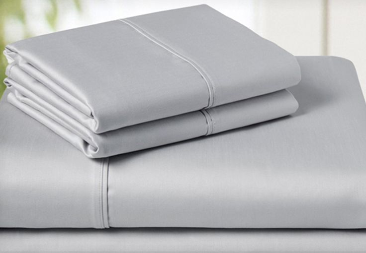 4-Piece Egyptian Cotton Sheet Set in Queen OR King Size - 5 Colour Options