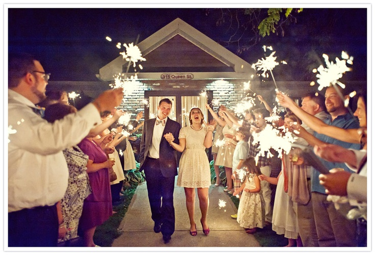 Love sparklers for the send off, great photo too by Jayme Morrison Photography