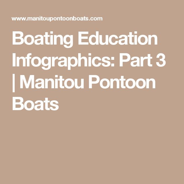 Boating Education Infographics: Part 3 | Manitou Pontoon Boats