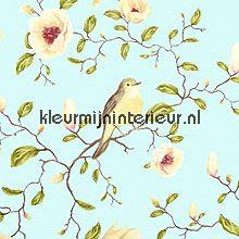 Un Bisou de mme Pitou 310013 van Eijffinger romantisch behang met prachtige bloemen