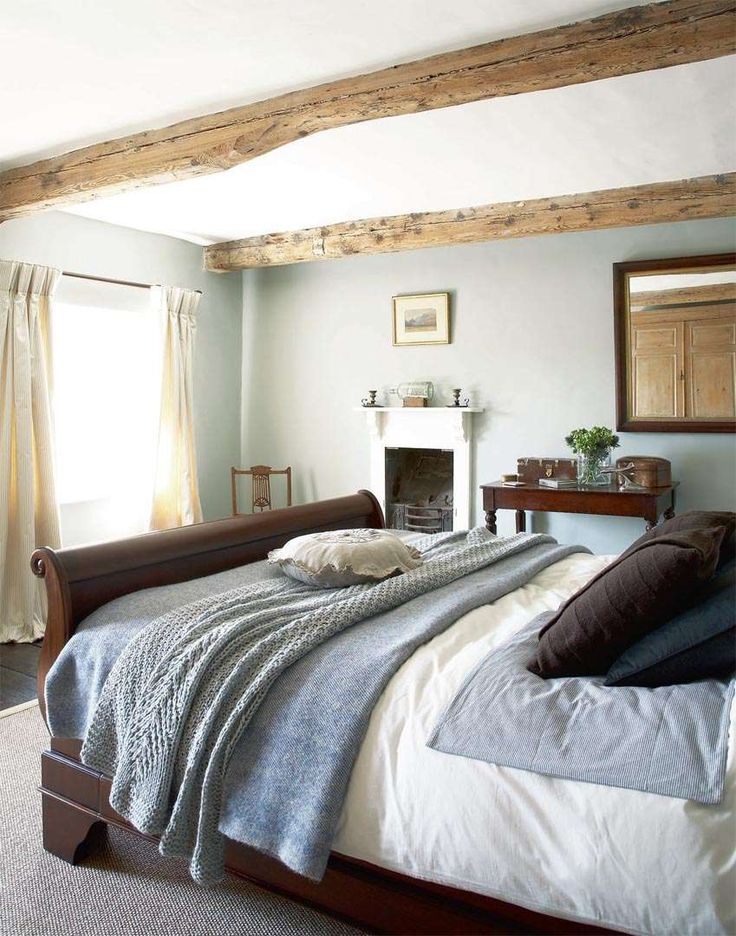 Bedroom in traditional country style home