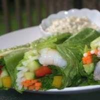 Легкие летние роллы с креветками – рецепт с фото