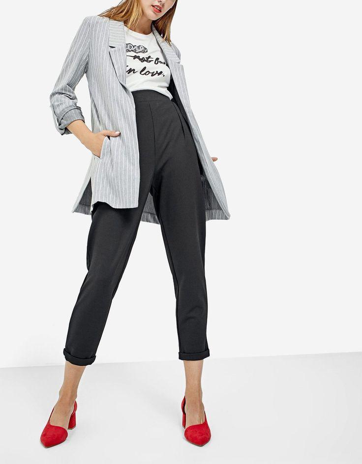 Knit blazer with vents - Sweatshirts | Stradivarius Bahrein