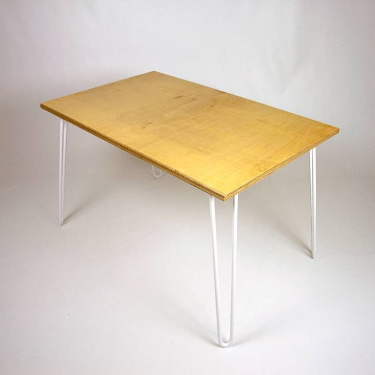 dining table industrial hairpin legs plywood by cord industries notonthehighstreetcom