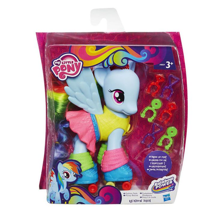 New MLP My Little Pony Rainbow Power Fashion Style 15cm 6in Rainbow Dash #Hasbro