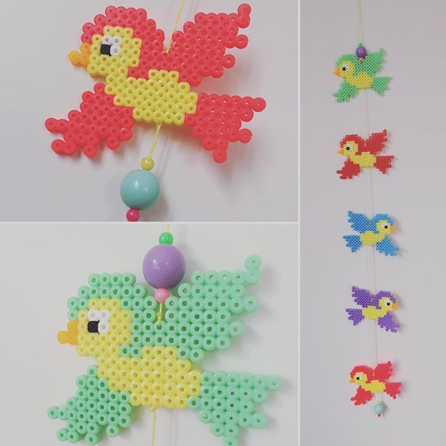 Bird mobile hama beads by homemade_by_lund
