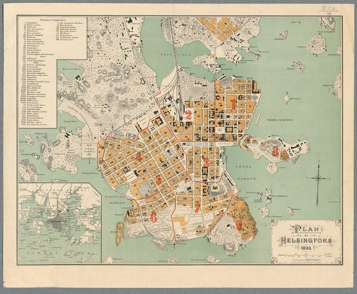 Map of Helsinki, 1893. Better quality image at http://urn.fi/URN:NBN:fi-fe201308194377