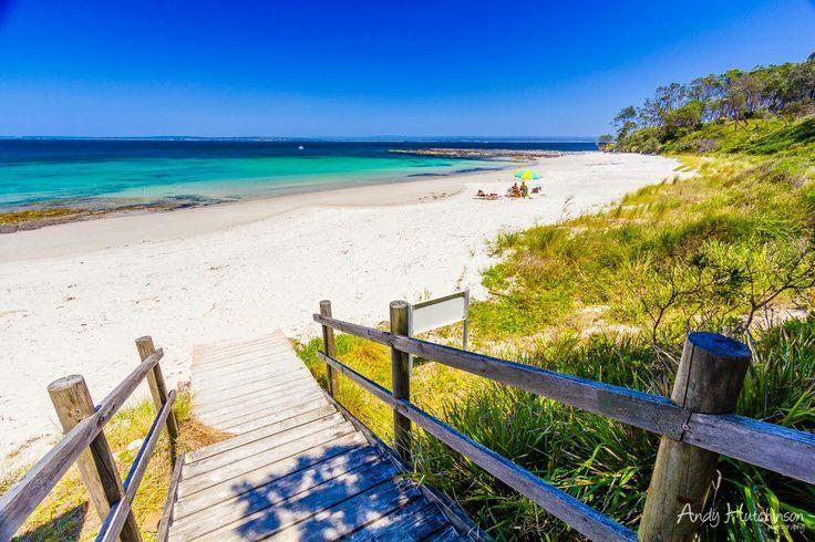 Cabbage tree beach in Jervis Bay. NSW, Australia