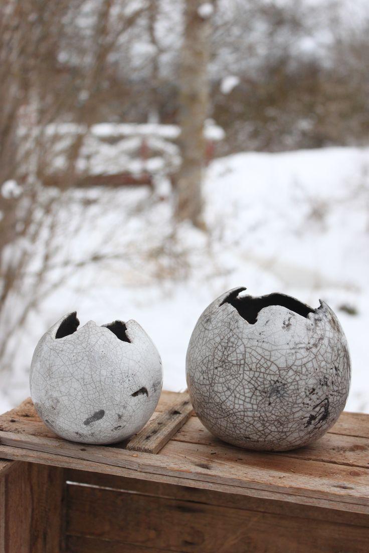 Raku Eggs, LÖK Linda Öhman Keramik