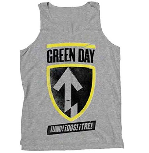 Green Day 'Uno Dos Tre' Grey Tank Top
