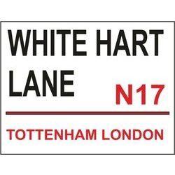 Metal Wall Sign, White Hart Lane Tottenham. 400x300mm