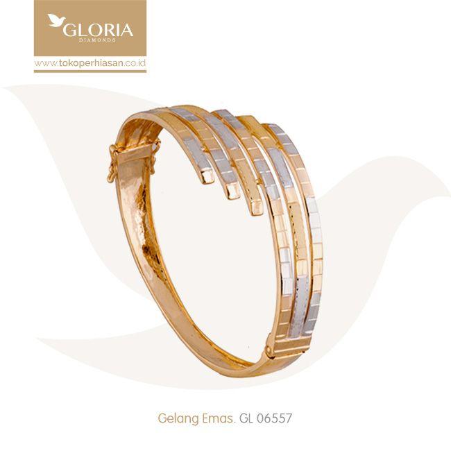Gelang Tangan Model Kuku Macan Double 3 Kombinasi Putih Kuning. #goldbracelet #goldstuff #gold #goldjewelry #jewelry #bracelet #perhiasanemas #gelangemas #tokoperhiasan #tokoemas