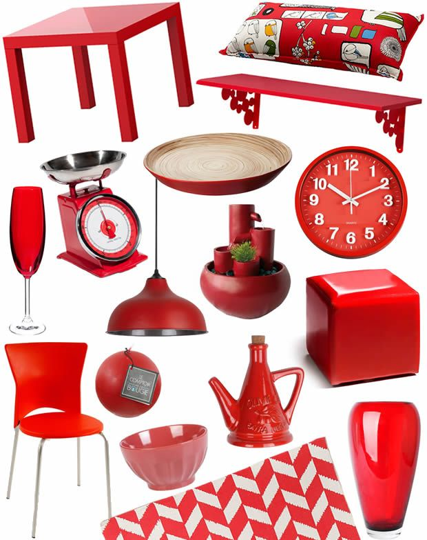Color Trend 2013 Poppy Red -  Rouge Red home decor http://www.madmoizelle.com/tendance-deco-2013-rouge-146669