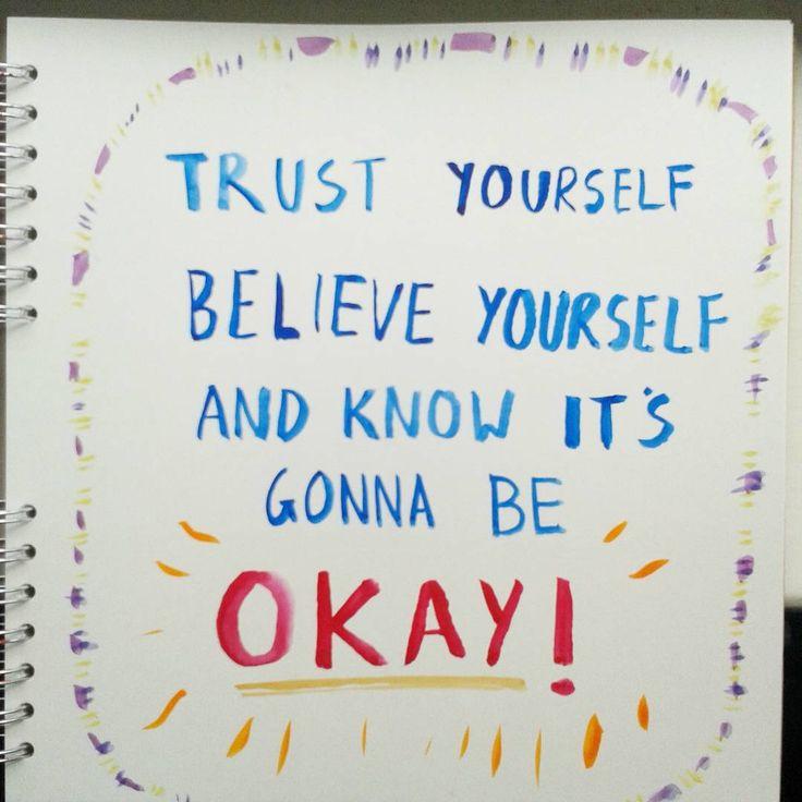 Ok | #thevandals #watercolour  #doodles #motivation