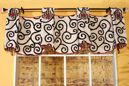 curtain valance patterns free | This tailored, yet fun pleated valance with tabs can be adapted to fit ...