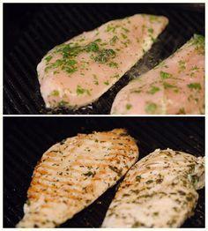 Como cocinar pollo: Pollo marinado a la plancha rapido, facil y sabros...