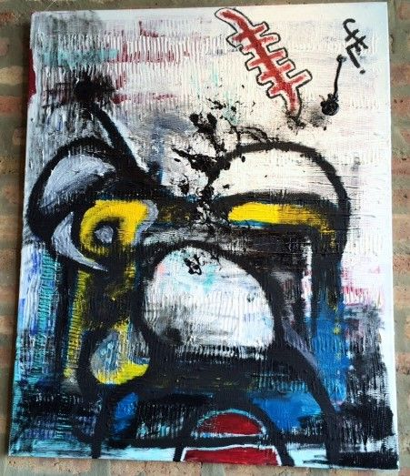 """""""VIEJOS RECUERDOS"""" (OLD MEMORIES)  by Chilean Artist Cristobal Lagomarsino """"CHE"""" 2014. Mixed Media Paint. 40""""x32"""" (100x80cm) by SouthandSoul on Etsy #art #acrylic #canvas #original #fromsouthamerica #artche #artfromchile www.artche.cl"""