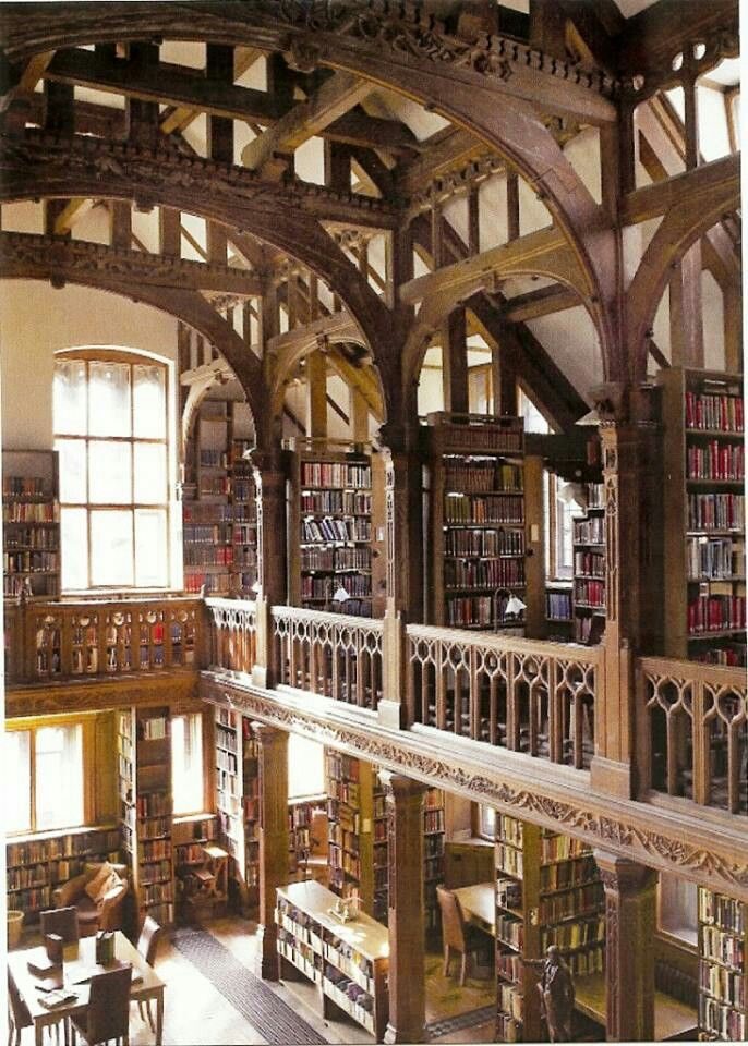 """""""I have always imagined that Paradise will be a kind of library.""""  ~ Jorge Luis Borges  Gladstone Library, Flintshire, United Kingdom"""