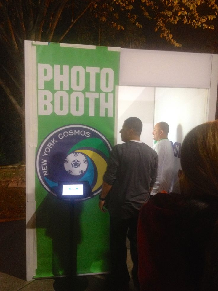 The photo booth at the NY Cosmos for fans to take part in.