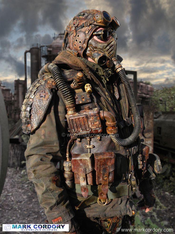 Post Apocalyptic fashion or LARP. Mark Cordory Creations. www.markcordory.com