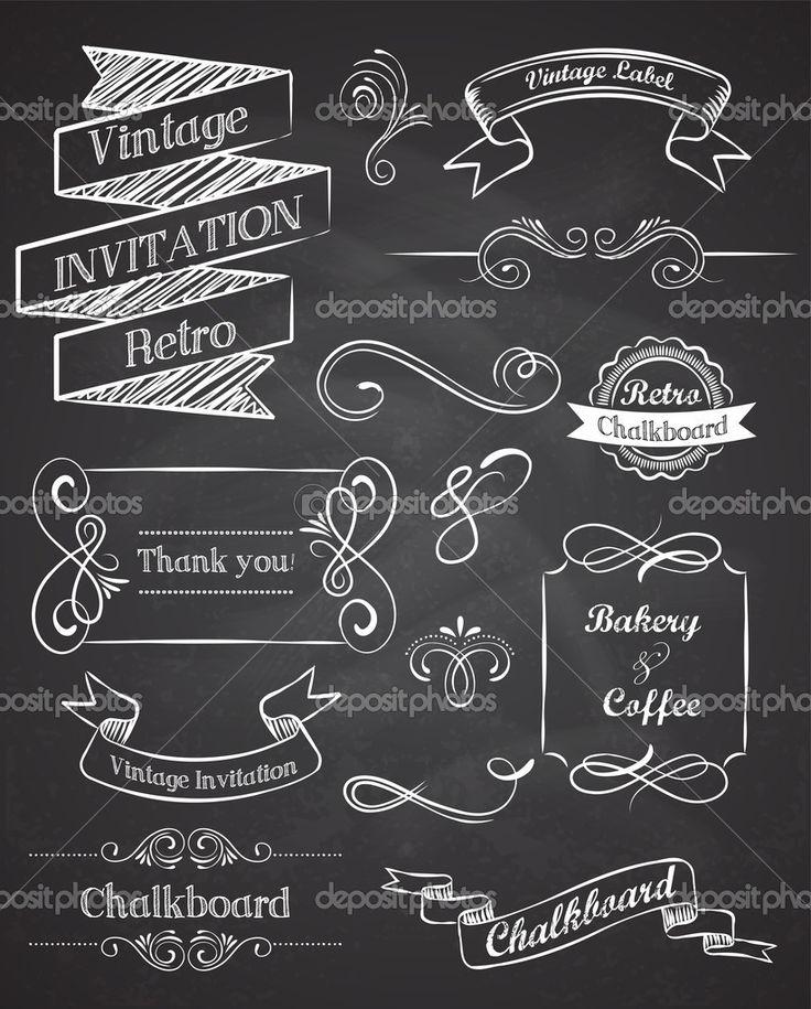 depositphotos_22203575-Chalkboard-Hand-drawn-vintage-vector-elements.jpg 822×1,023 pixels