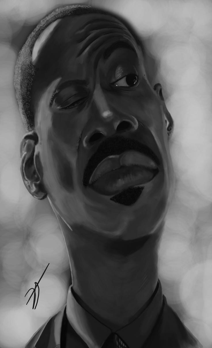 #EDDIE #MURPHY  #digital #caricature by #Dani #Gonzalez, www.danigonzalez.com