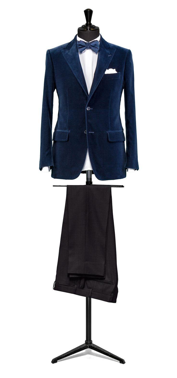 Blue jacket Velvet http://www.tailormadelondon.com/shop/tailored-dinner-suit-fabric-7838-blue-velvet/