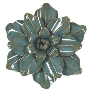 Glazed Flower Wall Sculpture
