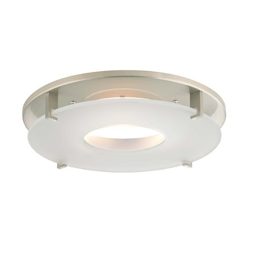 Recesso lighting by dolan designs satin nickel decorative recessed lighting trim with frosted glass 10853