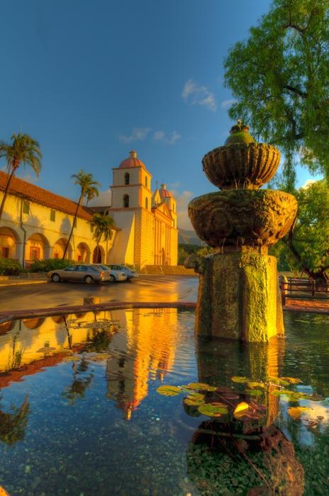 Reflection of Santa Barbara Mission #sbseasons #sb #santabarbara