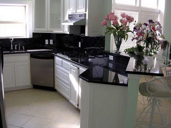 Siyah Beyaz Mutfak Dolabı Modelleri 14