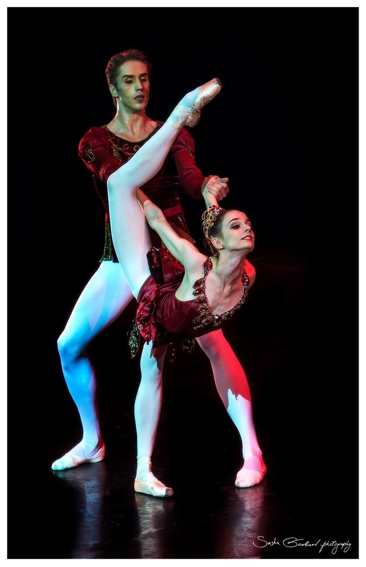 "Maria Kochetkova and Andrey Merkuriev, ""Rubies"" from ""Jewels"", Moscow, Russia (May, 2014) - Photographer Sasha Gouliaev"
