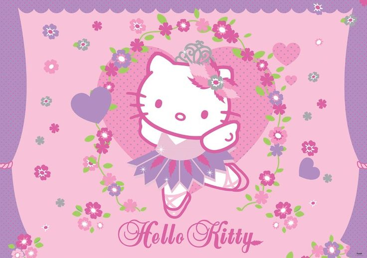 fototapet Hello Kitty