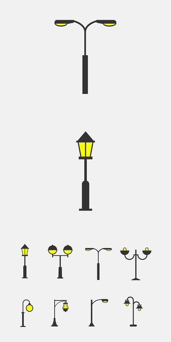 8 Street Lamp Icons Street Lamp Lamp Logo Light Icon