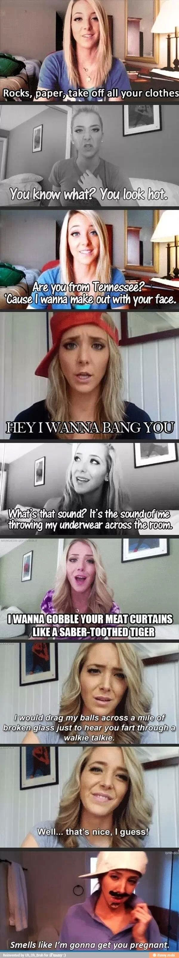Jenna marbles pick up lines  :)