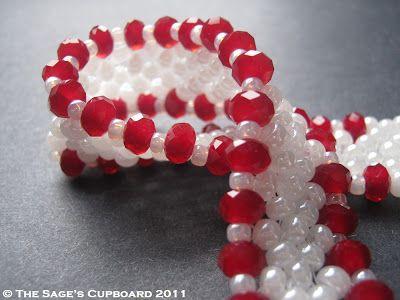 Red Valentine Bracelet with Red Velvet Crystals