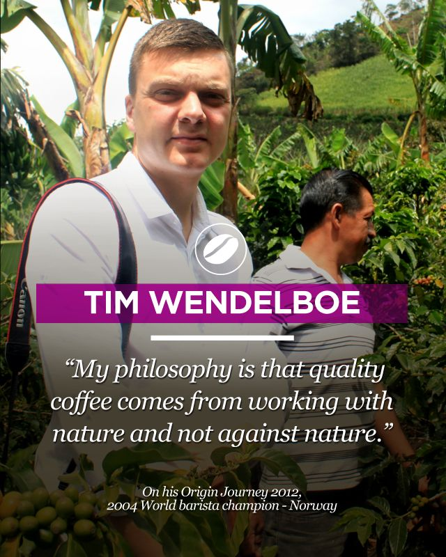 The 2004 World Barista Champion, Tim Wendelboe on his 2012 trip to origin. Go to  www.colombiancoffeehub.com for more original coffee content.