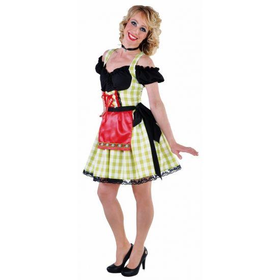 Luxe groene dirndls voor dames  Luxe groene dirndl voor dames. Sexy groen / wit geruit Tiroler jurkje met zwart topje en rood schort. Leuk voor Oktoberfest of Bierfeest. Luxe kwaliteit.  EUR 43.96  Meer informatie