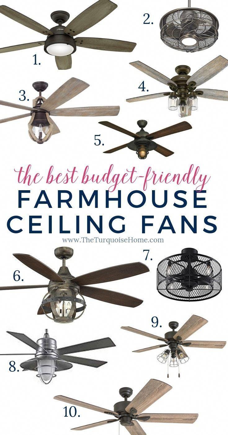 Die Besten Budget Freundlichen Farmhouse Ceiling Fans Das