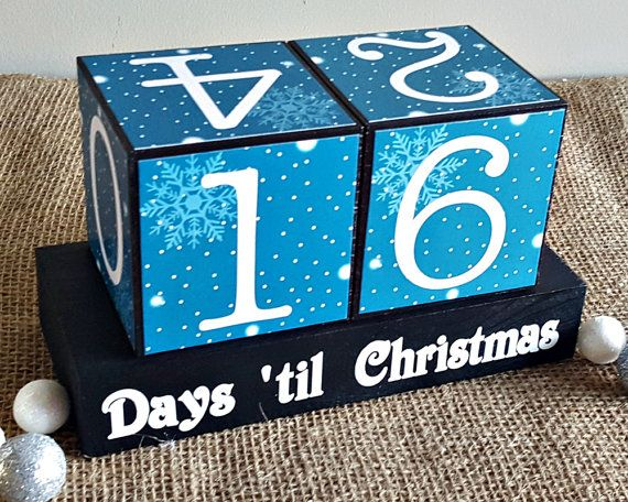 Christmas countdown wood blocks set can be used to countdown from 43 days. The number 6/9 interchange. When displayed, digits 7 and 8 will be used