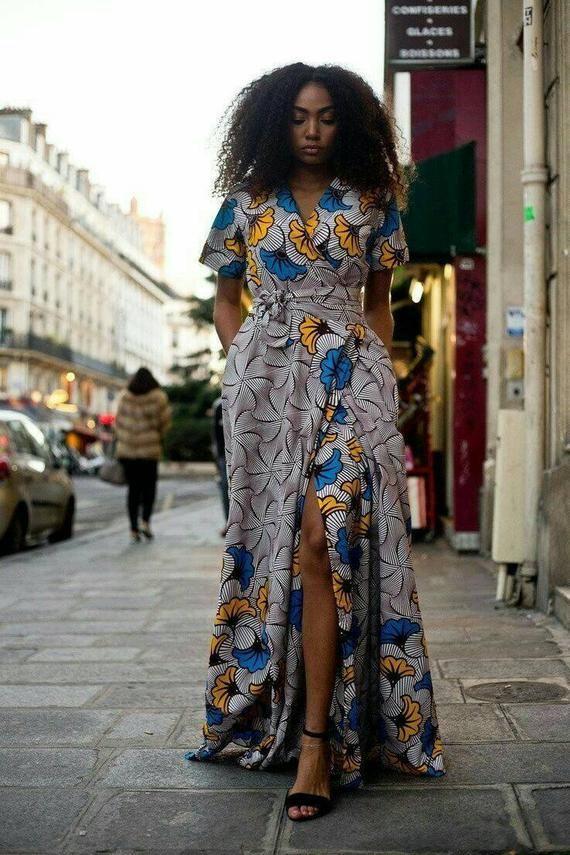 Yael maxi wrap dress