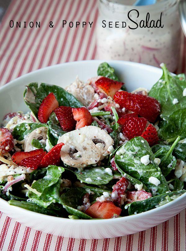 Onion and Poppy Seed Salad | Recipe