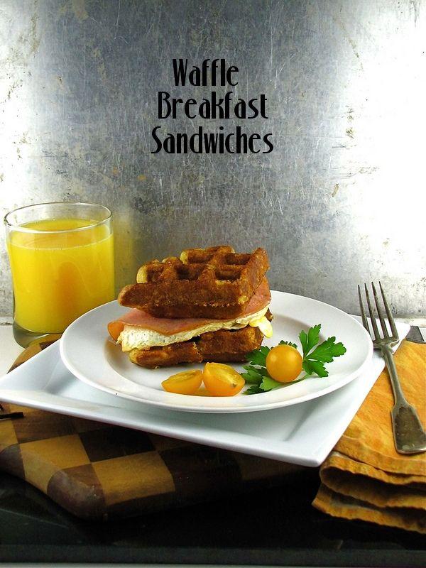 Waffle Breakfast Sandwiches from www.missinthektichen.com  Waffle Wednesday: Waffle Breakfast Sandwiches