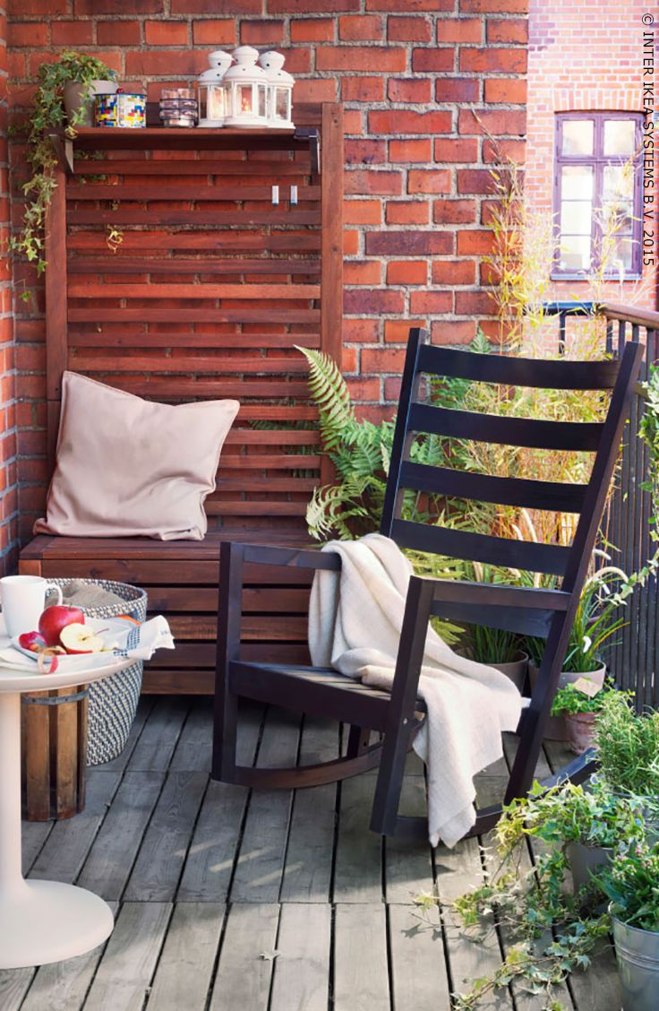Ikea outdoor rocking chair - Pin For Later 8 Stylish Balcony Updates That Start At Ikea Amp Up The Coziness
