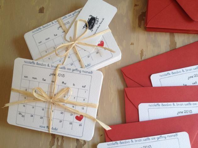 partecipazioni matrimonio + calendario data matrimonio