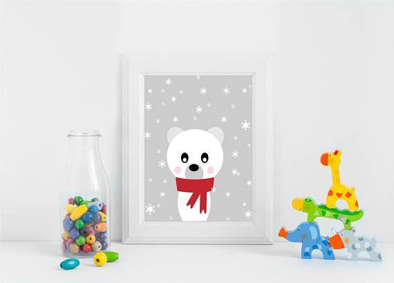 Check out this item in my Etsy shop #printableart https://www.etsy.com/listing/578823025/polar-bear-christmas-decor-nursery-jpg