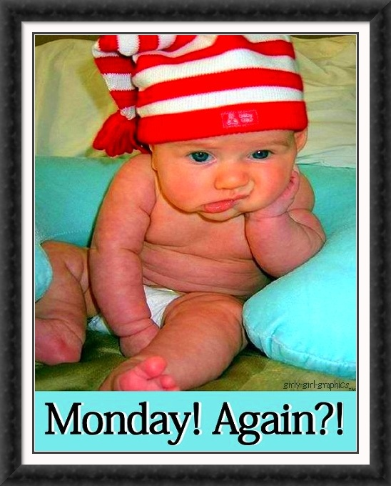 Monday again?  Why does this week happening?
